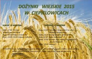 Plakat dożynki 2015